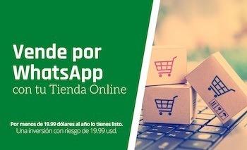 Vende por whatsapp con tu tienda Online
